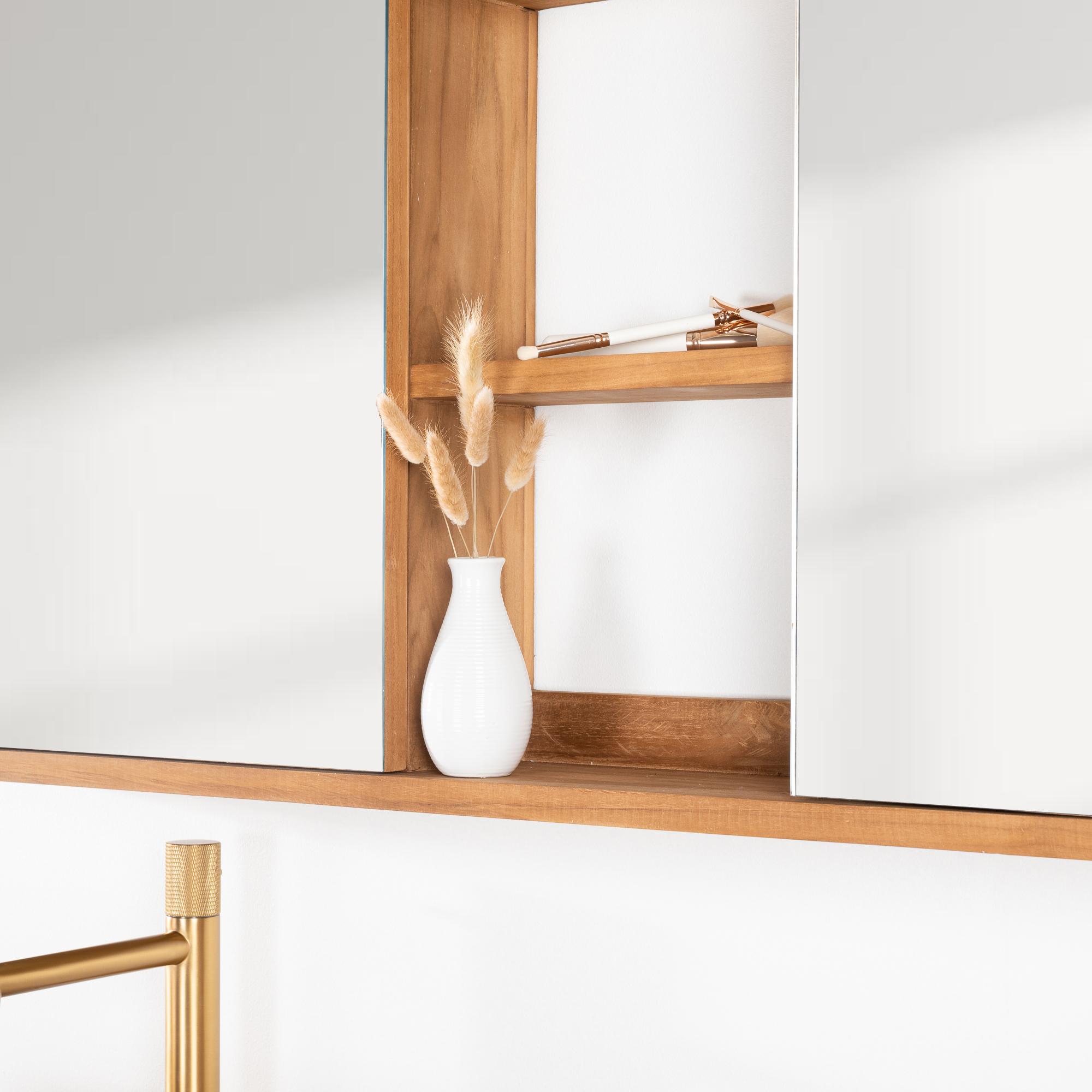 Espejo armario de cuarto de ba o 130 cm for Espejos cuarto de bano