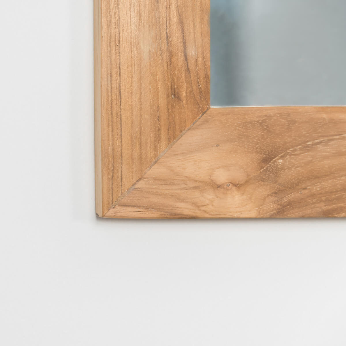 Espejo rectangular grande de teca maciza 180 x 70 for Espejo rectangular grande