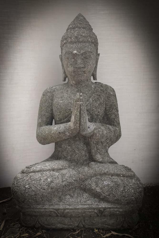 Estatua de buda sentado de jard n posici n rezo 80 cm - Estatuas de jardin ...