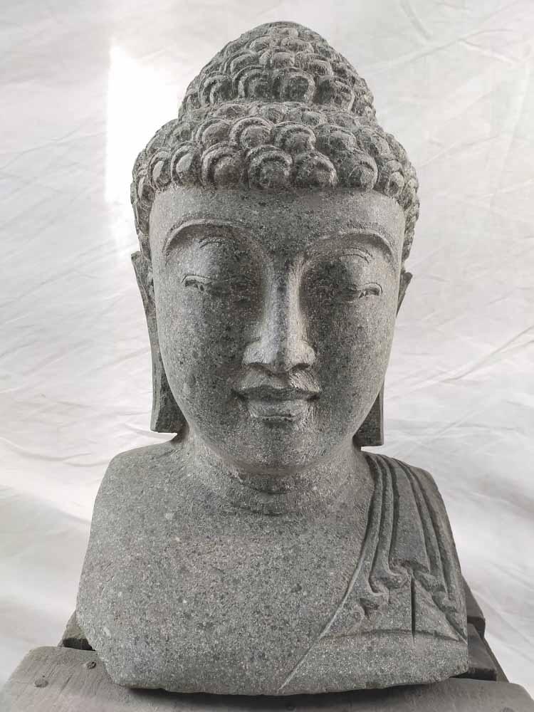 Estatua de jard n busto de buda exterior zen 40 cm - Estatuas de jardin ...