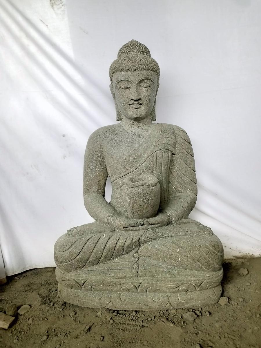 Estatua de jard n zen buda piedra ofrenda bol 1 m - Estatuas de jardin ...