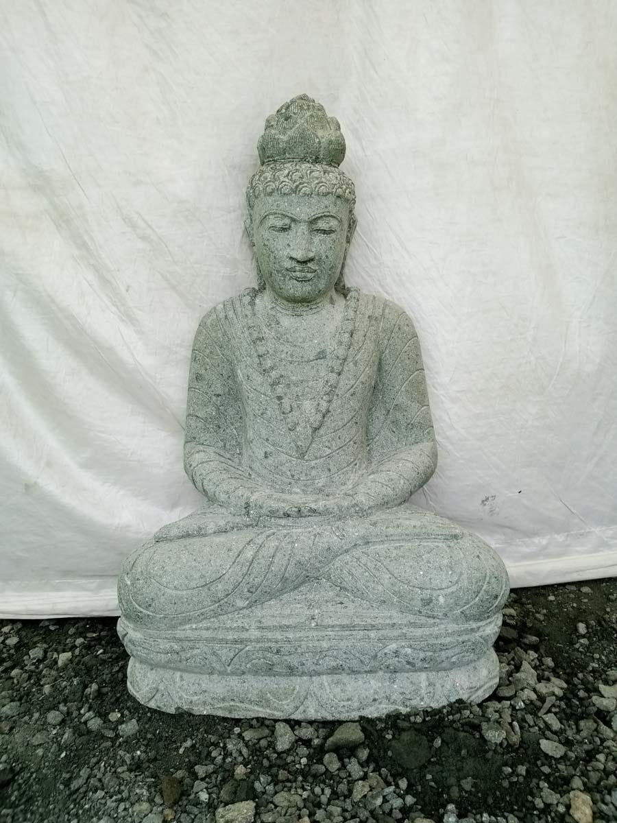 Estatua de piedra buda sentado jard n exterior collar 80 cm - Estatuas de jardin ...