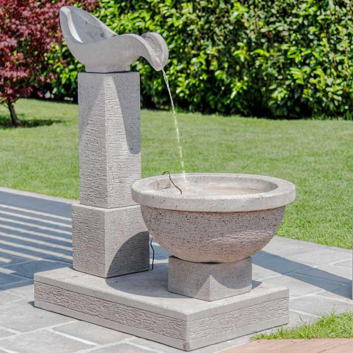 Fuente de jard n fuente exterior cascada 120cm - Cascada de jardin ...
