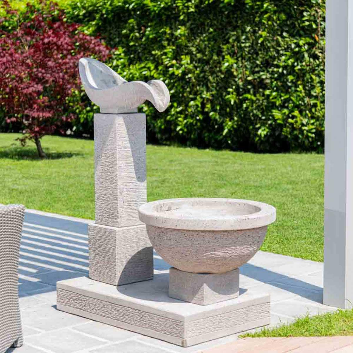 Fuente de jard n fuente exterior cascada 120cm for Fuentes de cascada para jardin