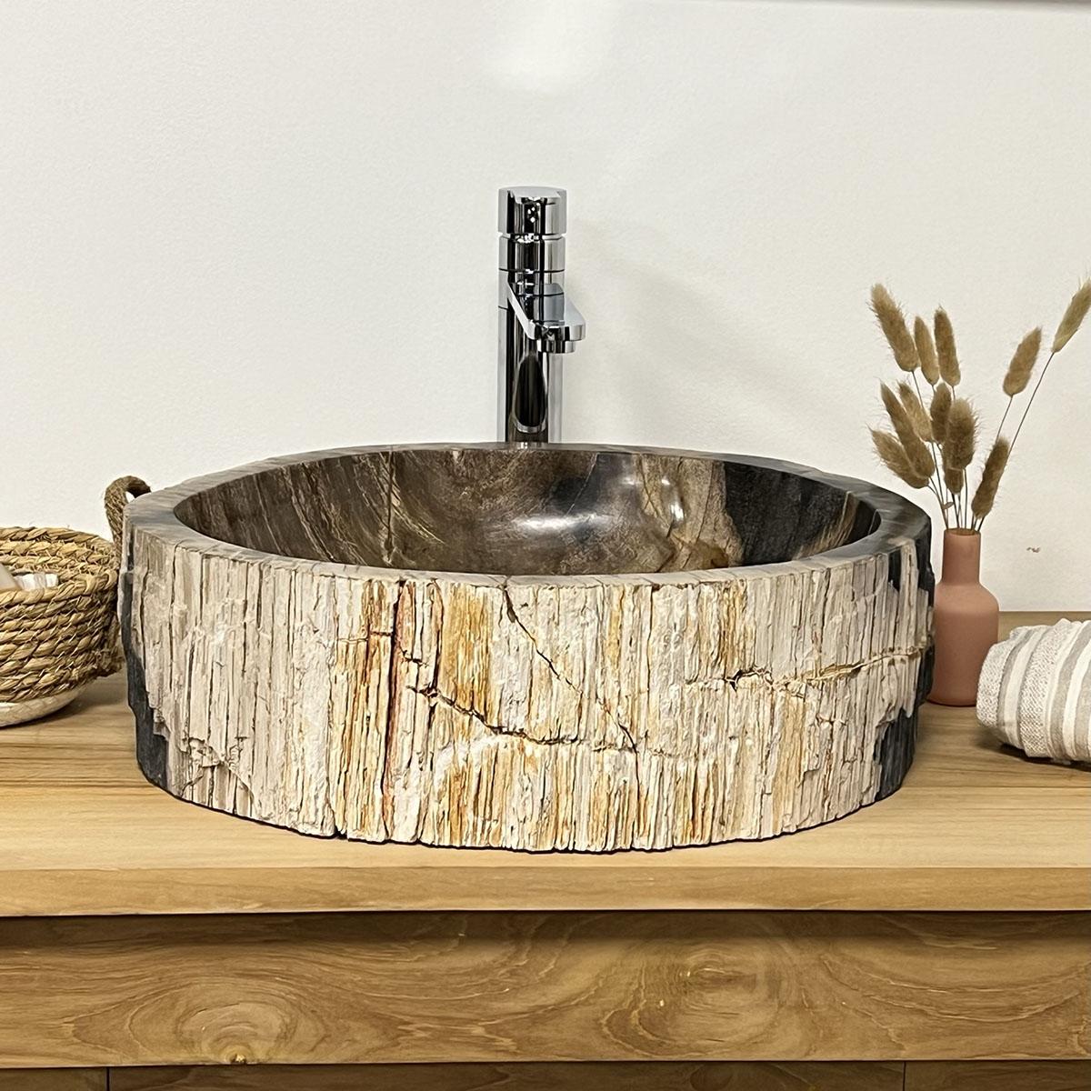 lavabo de madera lavabo sobre encimera de madera On lavabo baño madera