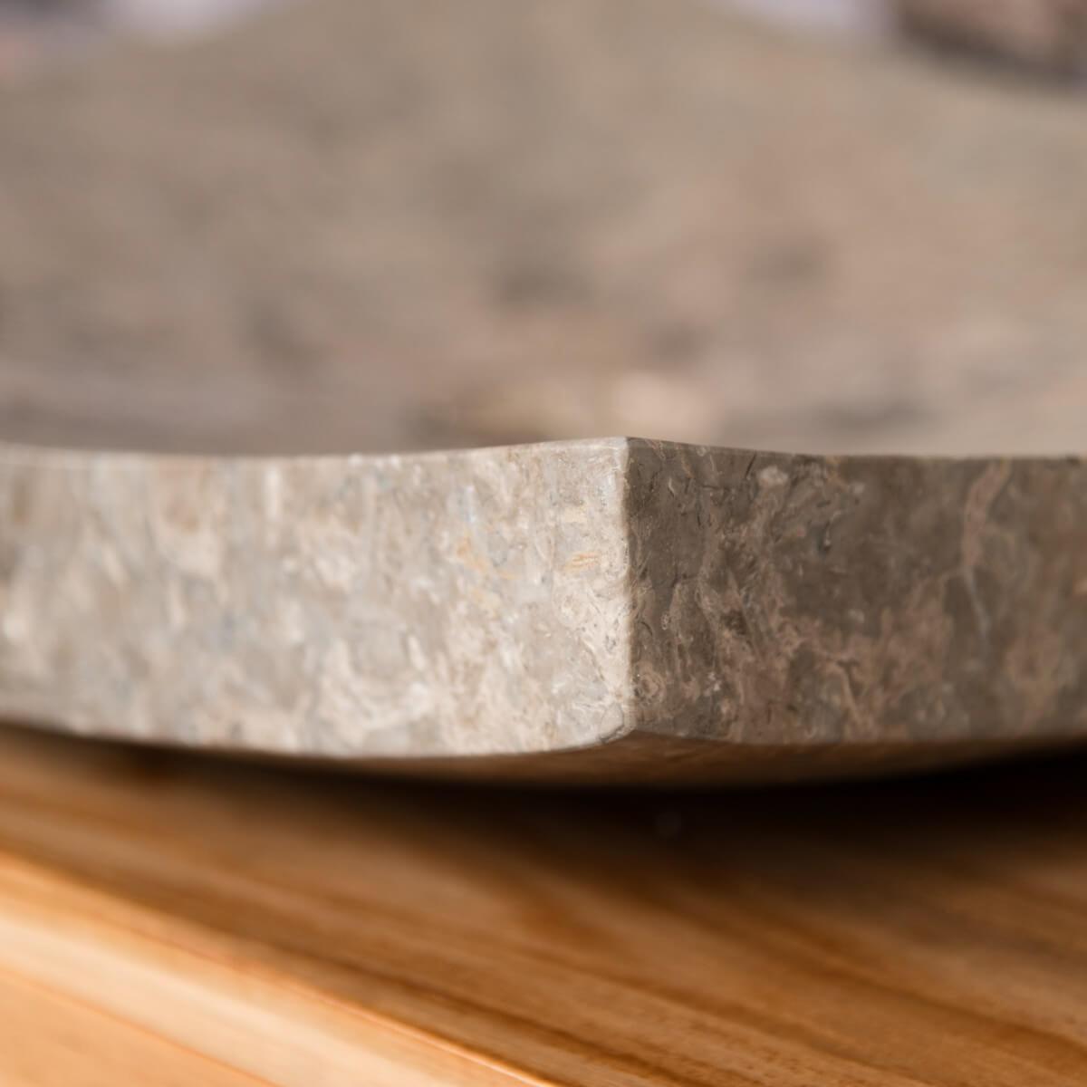 Lavabo encimera grande gris 50 cm rect ngulo de m rmol for Encimera marmol gris