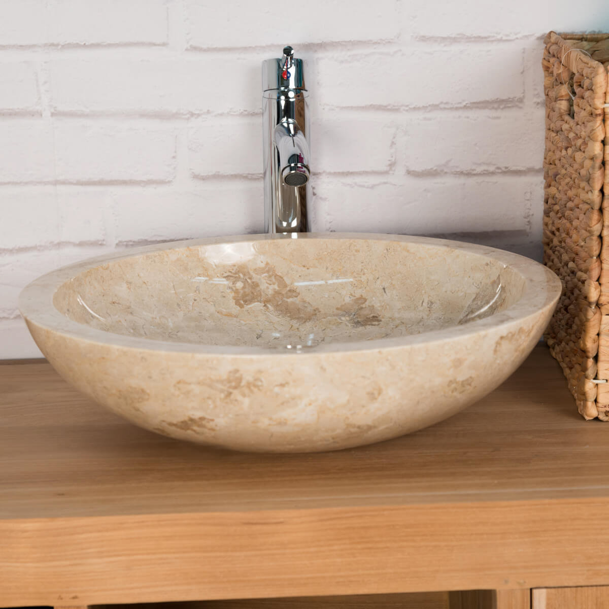 Lavabo marmol cubierta para lavabo de mrmol travertino for Lavabo marmol