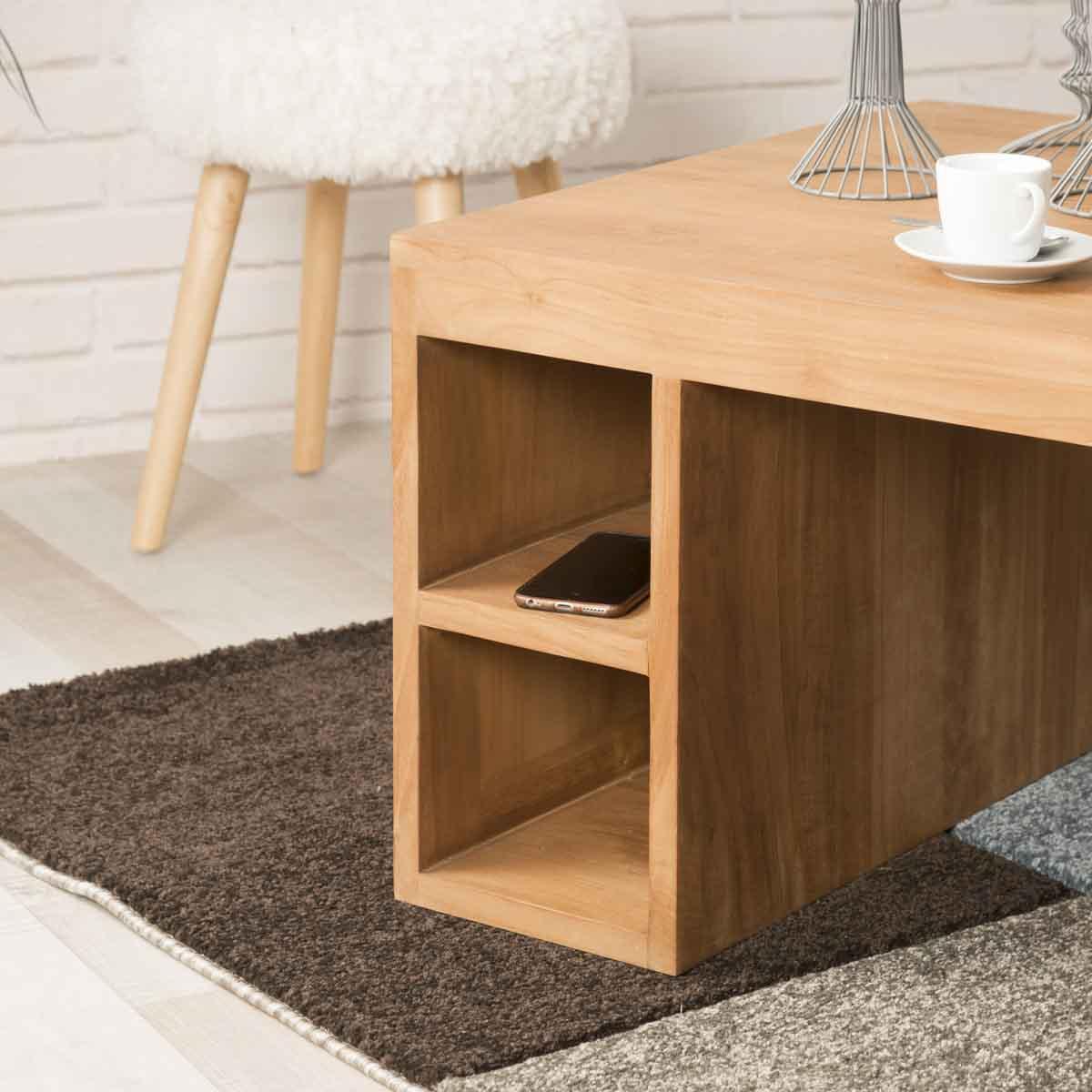 Mesa de sal n rectangular de teca serenite 100 x 60 - Mesa de teca ...