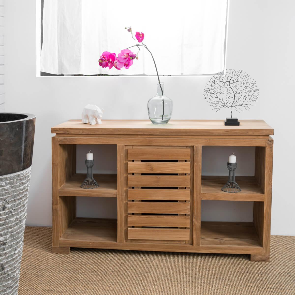 C moda para cuarto de ba o de madera maciza de teca - Comodas para habitacion ...