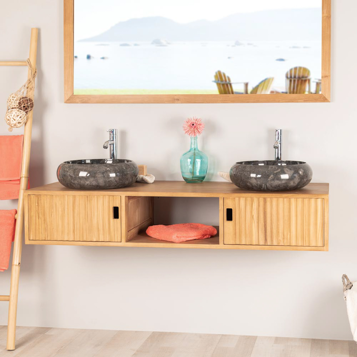 Los articulos de la pagin wanda collection for Mueble de bano doble lavabo de madera