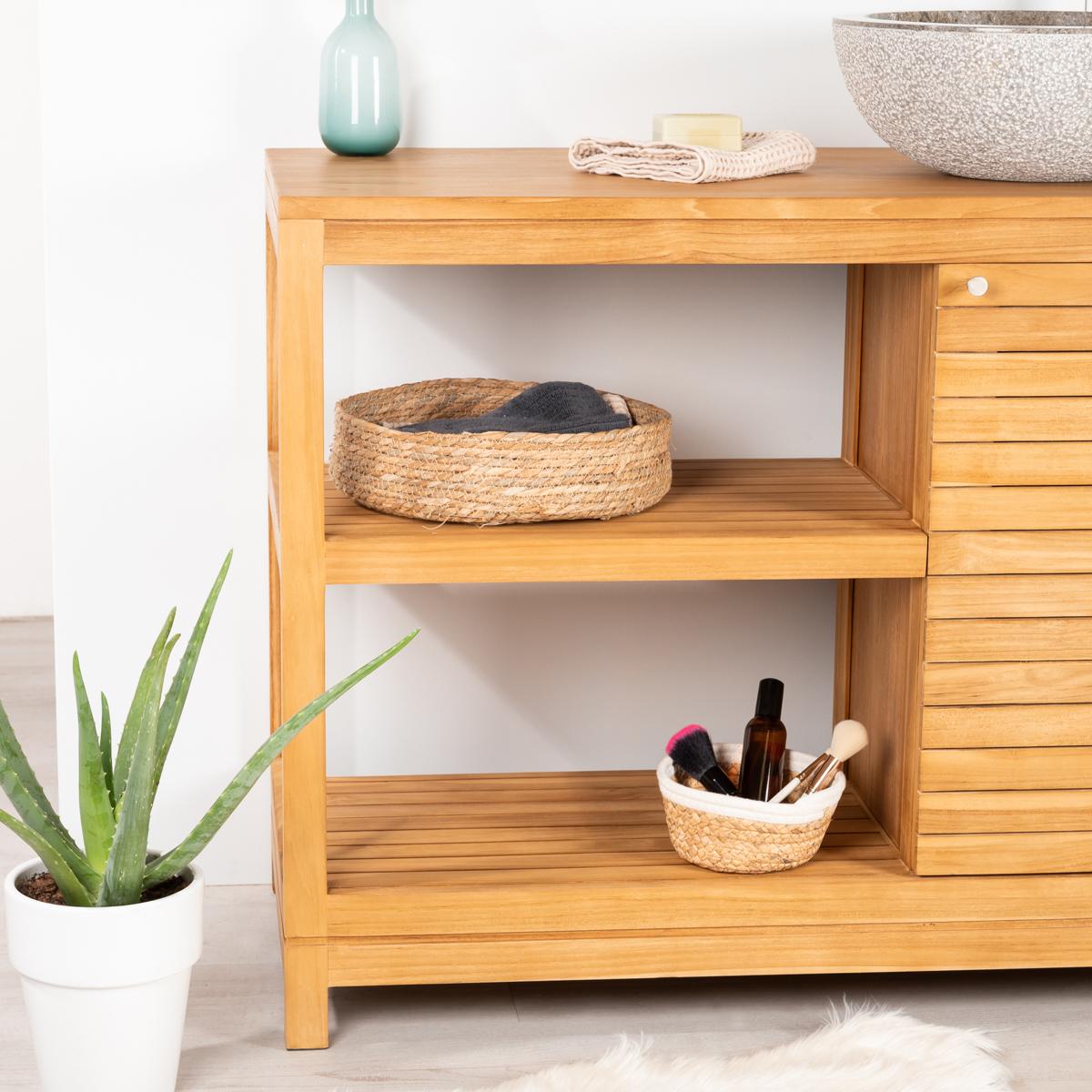 Mueble de teca para cuarto de ba o courchevel 100 for Cuartos de bano el mueble