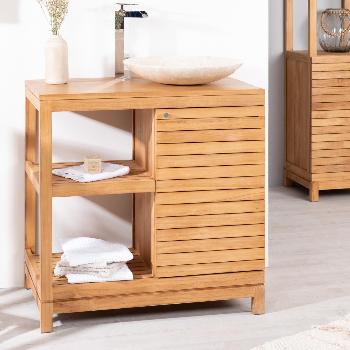 Mueble para cuarto de baño de teca COURCHEVEL 80