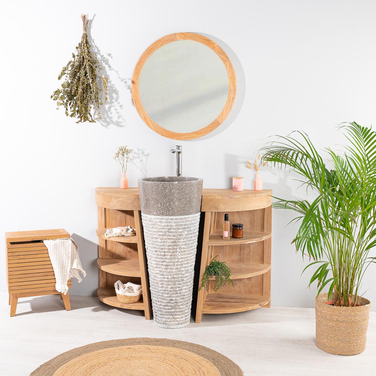Mueble para cuarto de ba o de teca florencia 120 cm for Mueble lavabo 120 cm
