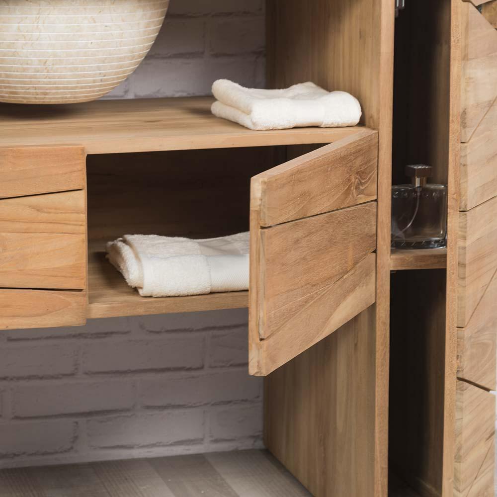 Mueble para lavabo simple de madera teca maciza - Mueble para lavabo ...