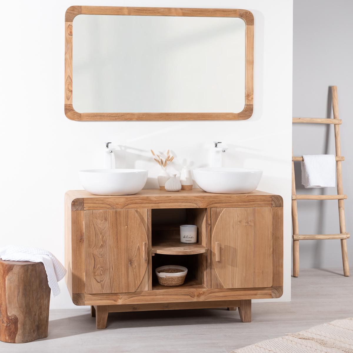 muebles de baño de teca mueble para cuarto de ba o de teca retro 120 cm