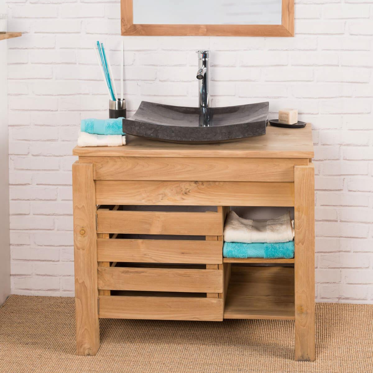 Mueble para cuarto de ba o mueble ba o madera teca - Mueble de habitacion ...