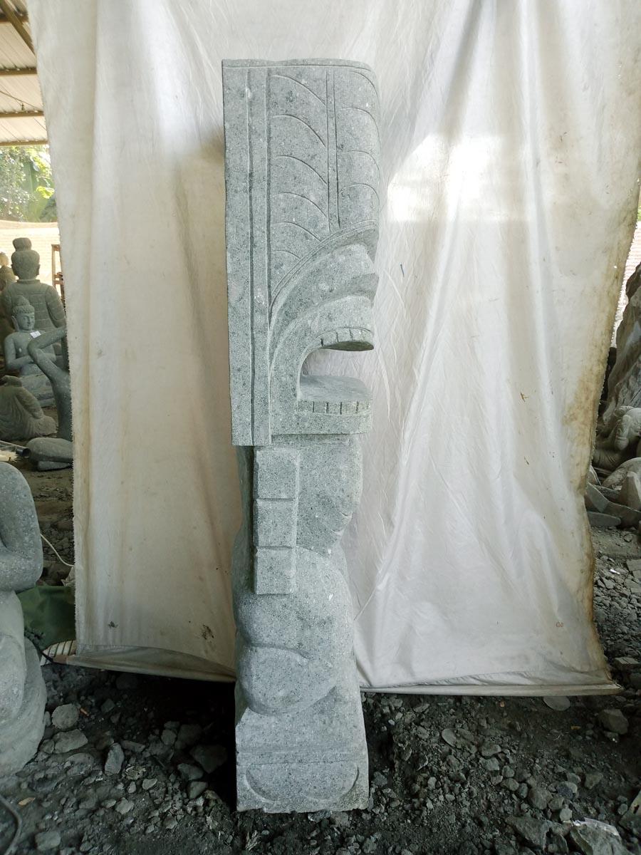 Tiki de ocean a estatua de jard n de piedra volc nica 1 50 m for Piedra volcanica para jardin